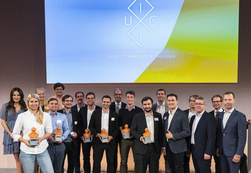 University Innovation Challange, Uni Frankfurt, Casino.Gruppenbild